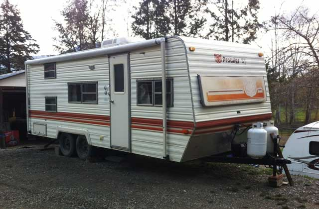 New vintage 1978 Prowler RV.
