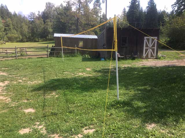New badminton and volleyball net.